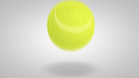 3D tennis ball bounce 01 Stock Video Footage