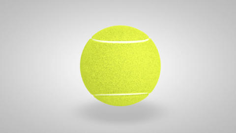 3D tennis ball bounce 01 Animation