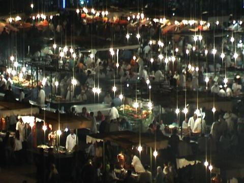 night at jama el fna timelapse Stock Video Footage
