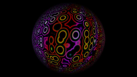 Full-sphere with a changing pattern Stock Video Footage