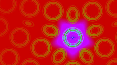 Pattern from rings with a star Animation