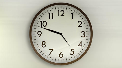 Wall Clock WhiteBG 720HD CG動画素材