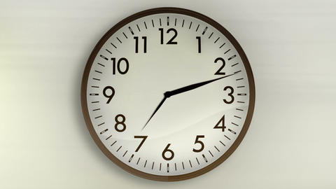 Wall Clock WhiteBG 720HD Stock Video Footage