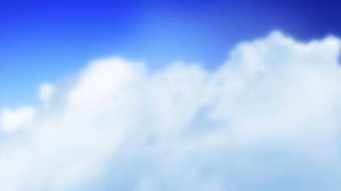 Plane 2012 in Clouds (Loop) Stock Video Footage