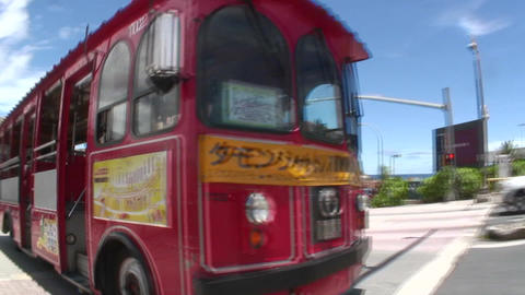 TumonShuttle BusOfGuam Stock Video Footage
