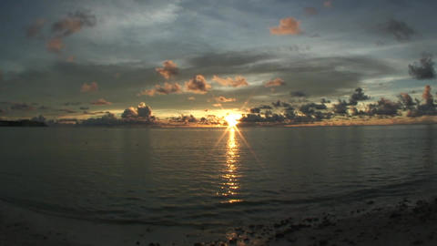 SunsetOverTheSea01 Stock Video Footage