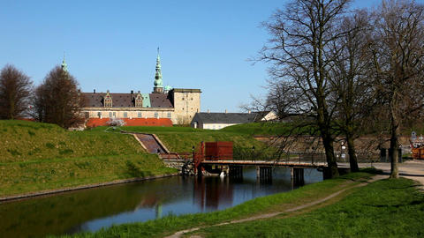 Kronborg Castle Stock Video Footage