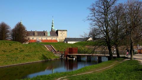 Kronborg Castle Stock Video Footage