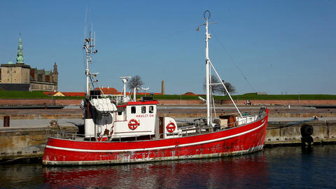 Fishing Vessel Stock Video Footage