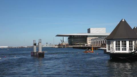 Copenhagen Operahouse Stock Video Footage