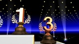 Podium Prize Trophy Aa4 HD stock footage