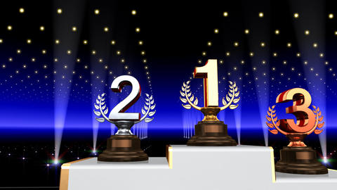 Podium Prize Trophy Aa4 HD Animation