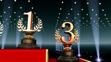 Podium Prize Trophy Ab3 HD stock footage