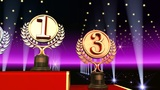 Podium Prize Trophy Ac3 HD stock footage