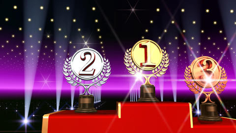 Podium Prize Trophy Ac3 HD Animation