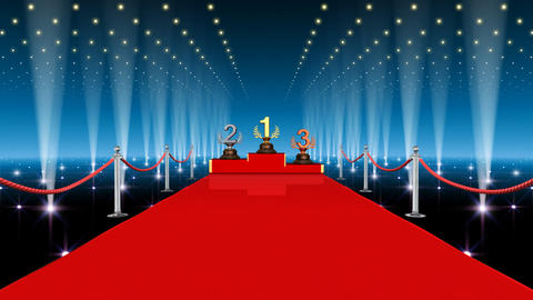 Podium Prize Trophy Ba3 HD Stock Video Footage