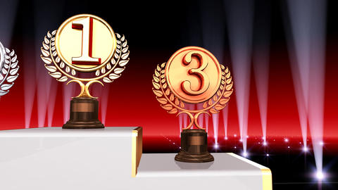 Podium Prize Trophy Bc4 HD Animation