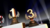 Podium Prize Trophy Ca4 HD stock footage