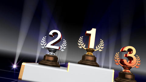 Podium Prize Trophy Ca4 HD Animation
