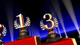 Podium Prize Trophy Cb3 HD stock footage