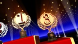 Podium Prize Trophy Cc3 HD stock footage