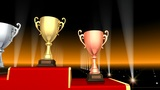 Podium Prize Trophy Cup Aa3 HD stock footage