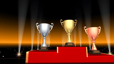 Podium Prize Trophy Cup Aa3 HD Animation
