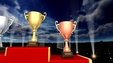 Podium Prize Trophy Cup Aa5sky HD stock footage