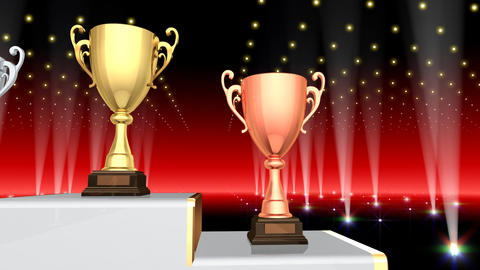 Podium Prize Trophy Cup Ba4 HD Animation