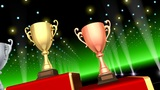 Podium Prize Trophy Cup Ca3 HD stock footage