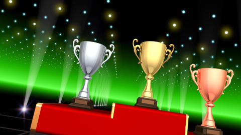 Podium Prize Trophy Cup Ca3 HD Animation