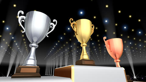 Podium Prize Trophy Cup Ea4 HD stock footage