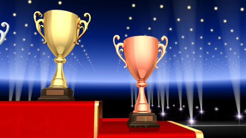 Podium Prize Trophy Cup Fa3 HD stock footage