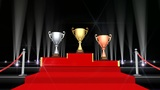 Podium Prize Trophy Cup Fa5fire HD stock footage