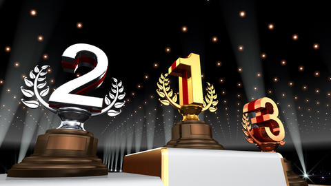 Podium Prize Trophy Ea4 HD Stock Video Footage