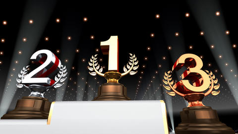 Podium Prize Trophy Ea4 HD Animation
