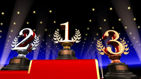 Podium Prize Trophy Eb3 HD Animation