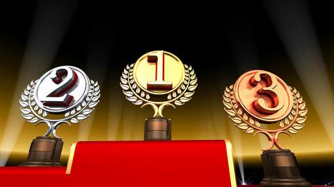 Podium Prize Trophy Ec3 HD stock footage
