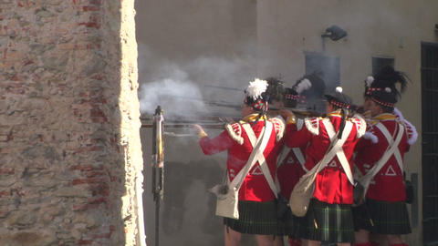 fighting scottish french soldier 02 Stock Video Footage