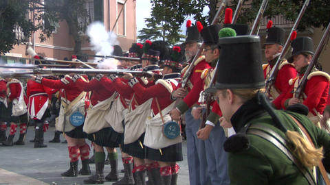 fighting scottish soldier 02 Stock Video Footage