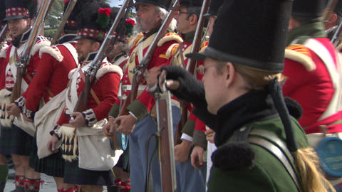 fighting scottish soldier 04 Stock Video Footage