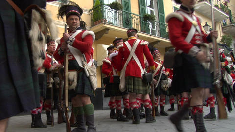 scottish soldier 01 Stock Video Footage