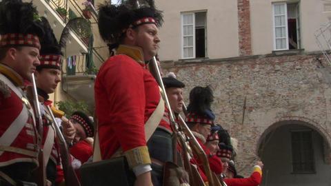 scottish soldier 03 Stock Video Footage