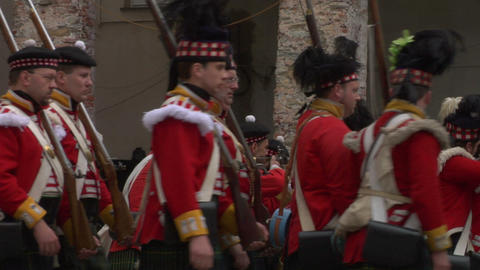 scottish soldier 05 Stock Video Footage