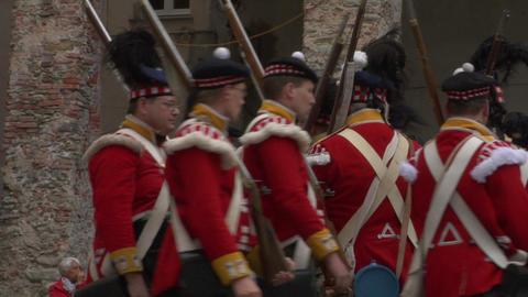 scottish soldier 05 Stock Video Footage