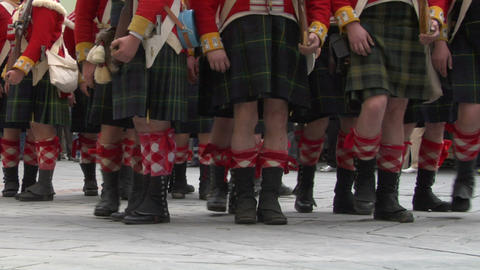 scottish soldier 07 Stock Video Footage