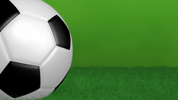 Green background with spinning soccer ball Animation