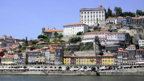 Douro river architecture scenic Stock Video Footage