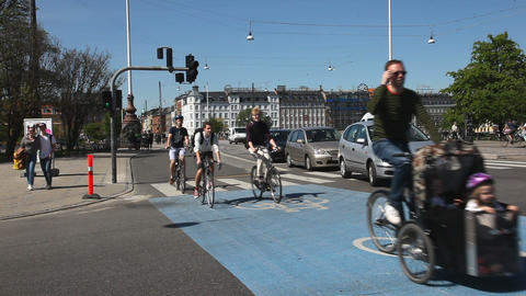 City of bikes Stock Video Footage