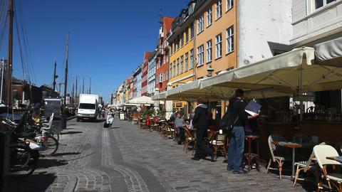 Walking in Copenhagen Stock Video Footage